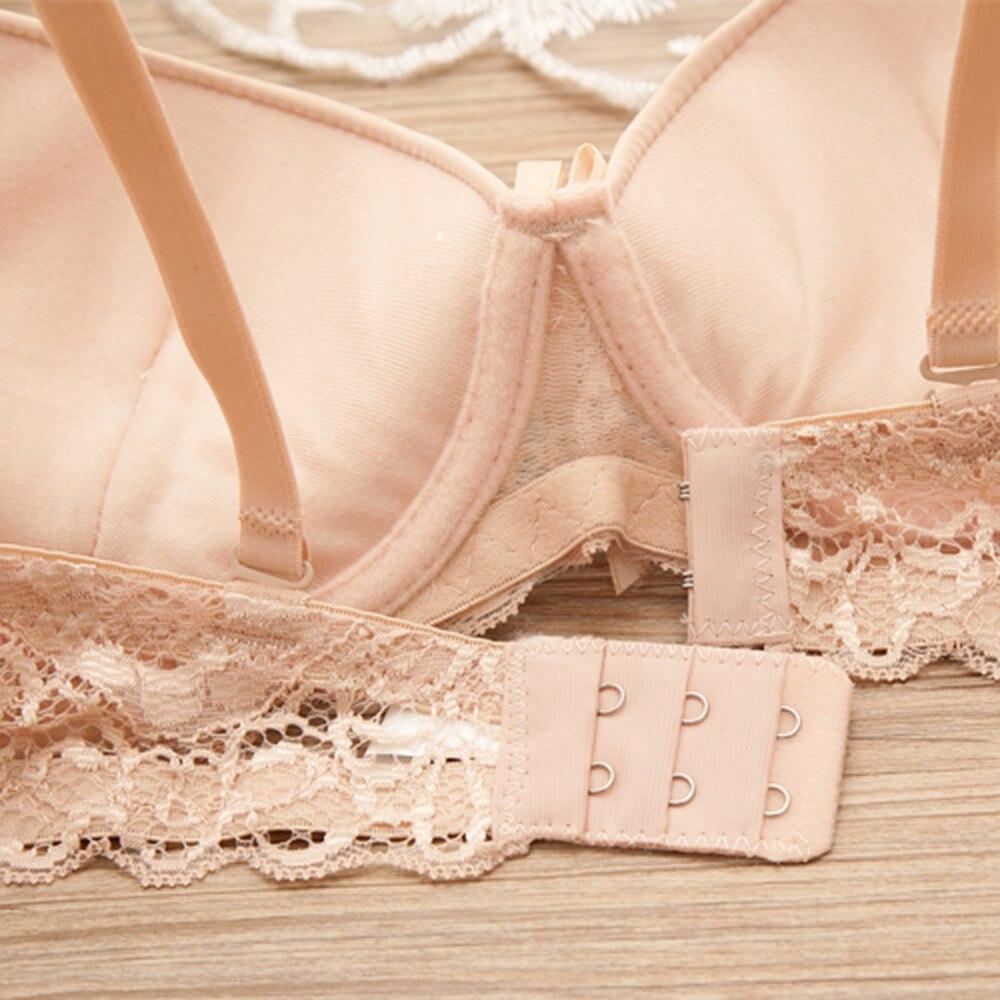 Telotunt Underwear women Bra Lady Underwire sexy lace bra underwear Three Hook-and-eye Comfortable care maternity bra JU 27