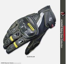 GK-160 motorcycle carbon fiber riding shatter-resistant gloves knight gloves short racing motorbike gloves