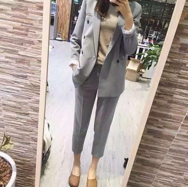 2015-Autumn-Women-s-Fashion-Suit-set-Nine-Points-Straight-Suit-Pants-FASHION-SET (3)