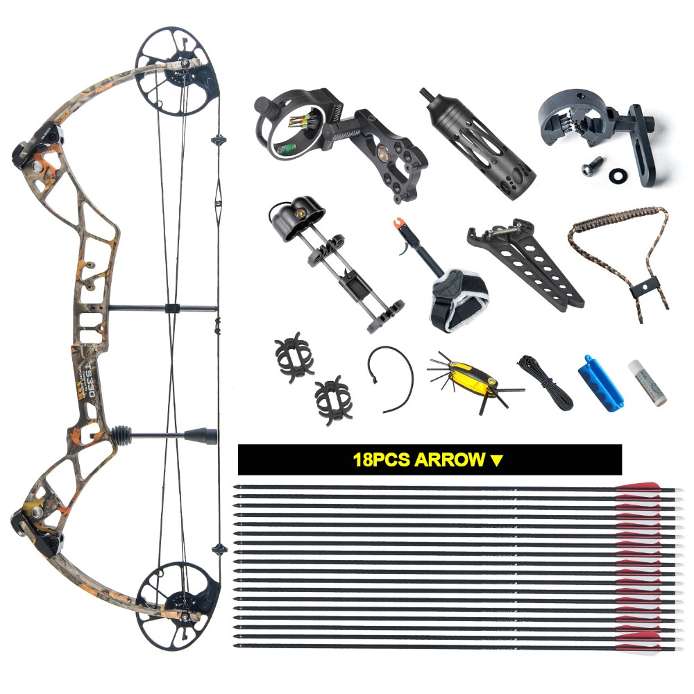TOPOINT ARCHERY Compound Bow Package TS330,25-31 Draw Length,30-70Lbs Draw Weight,330fps IBO topoint archery compound bow package m1 19 30 draw length 19 70lbs draw weight 320fps ibo