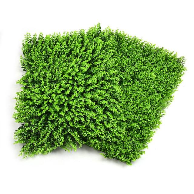 1pc 63x44cm Artificial Lawn Emulational Grass Ivy Leaf Fake Garden Screen  Rolls Wall Landscaping Turf Plant