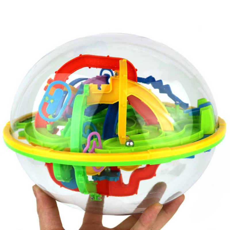 New Kacakid Lovely Kids Game Brain Educational Children Toys Gift Balance Logic Ability Intellect 3D Maze Puzzle Ball Toys