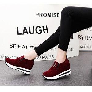 Image 2 - 2019 Bầy Cao Gót Phụ Nữ Giản Dị Giày Wedges Phụ Nữ Sneakers Giải Trí Nền Tảng Giày Thoáng Khí Tăng Trượt trên Giày Dép
