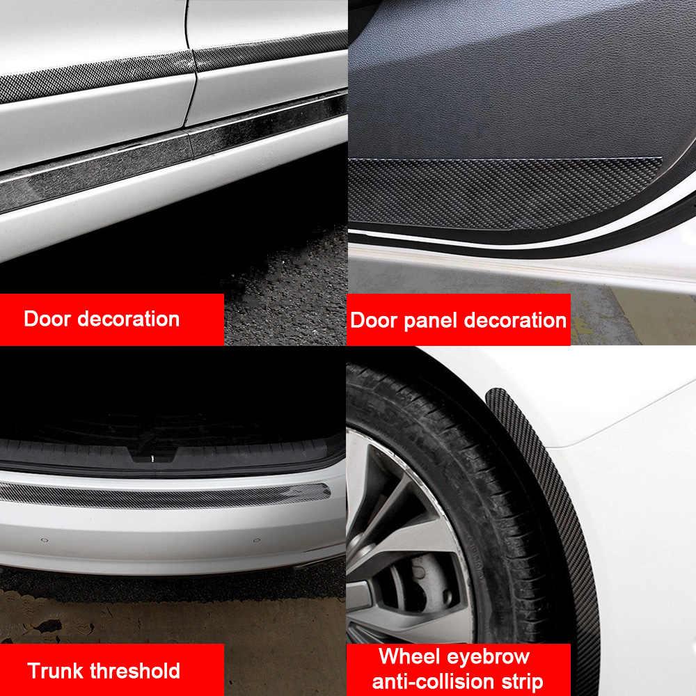 Наклейки для автомобиля 5D углеродное волокно Резина Стайлинг порога протектор товары для Ford Toyota BMW Audi Mazda KIA hyundai аксессуары