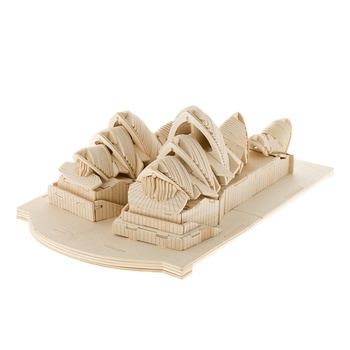 BOHS Building Toys Sydney Opera House 3D Puzzle Wooden Model DIY Scale Models