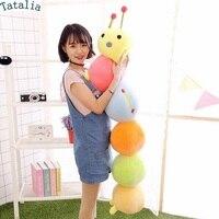 Tatalia 70cm 80cm 95cm Caterpillar Stuffed Plush Toys PP Cotton Cushion Lovely Kids Toys Great Children Gift for Birthday Gift