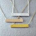 Personalizó Bar collar, collar conocido de encargo, 925 de plata, Bar placa de identificación, Bar joyería chapado en oro, personalizable collar