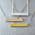 Personalized Bar Necklace, Custom Name Necklace, 925 Silver,  Bar Nameplate, Bar Jewelry Gold Plated , Customizable Necklace