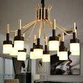 Скандинавские подвесные светильники для домашнего освещения  Современная Подвесная лампа  акриловый абажур  светодиодная лампа для гостин...