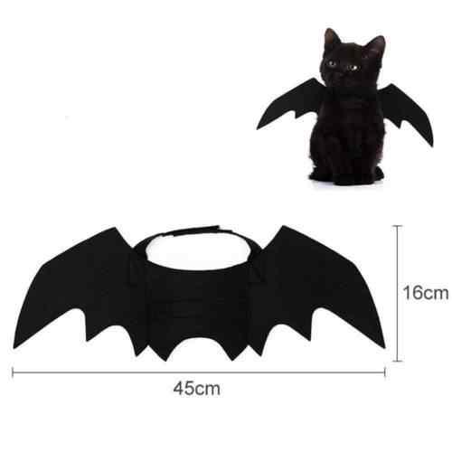 2019 новые костюмы для домашних животных на Хэллоуин, крылья летучей мыши, вампир, черное милое нарядное платье на Хэллоуин, костюм для домашних животных, собак, кошек