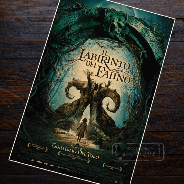 Pan's Labyrinth Sci-Fi Movie Film Vintage Retro Decorative Frame Poster DIY Wall Canvas Stickers Home Posters Home Decor