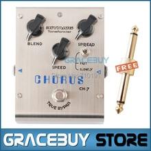 Biyang ToneFancier CH-7 guitarra eléctrica efecto Bass Pedal Classic Analog Chorus True Bypass instrumentos musicales