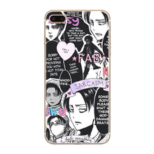 Attack On Titan Transparent Hard Case Cover For iPhone