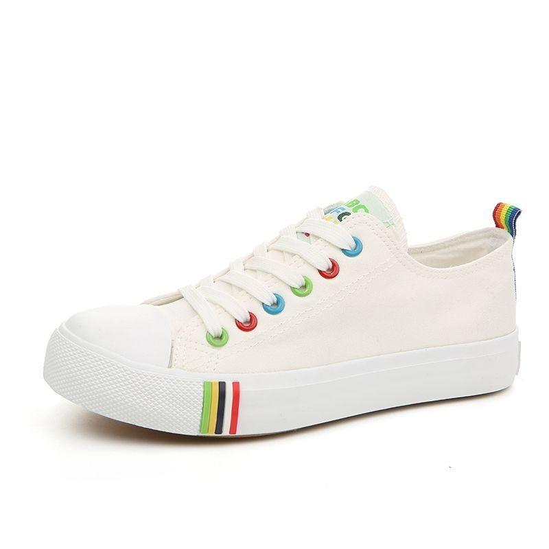 Zapatos de Mujer de Las Mujeres Cordones de Los Zapatos Blancos zapatos de Moda