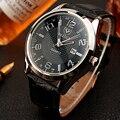 Мужские часы YAZOLE  спортивные  кварцевые с кожаным ремешком