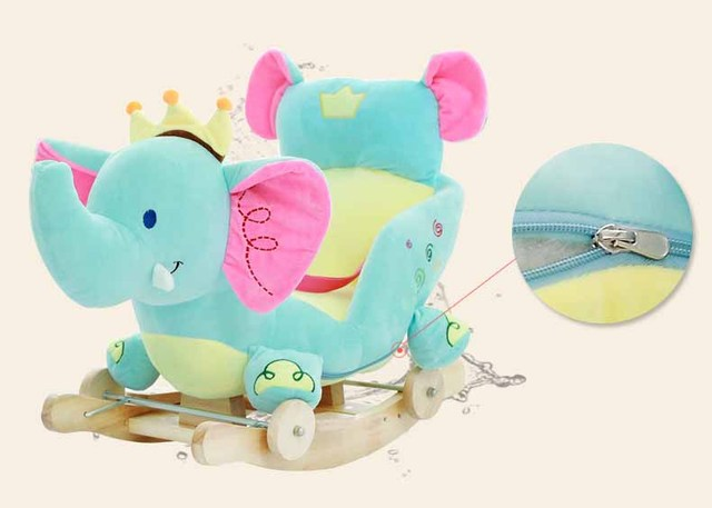 Baby swing Plush Horse Toy Rocking Chair Baby Bouncer baby Swing Seat Outdoor Baby Bumper Kid Ride On Toy Rocking Stroller Toy 4