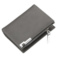 купить Hot PU Leather Men Wallets Brand High Quality Design Wallets with Coin Pocket Purses Gift For Men Card Holder Bifold Male Purse дешево