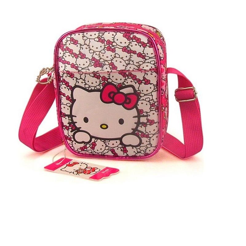 quality NEW Kids Girl Hello kitty Shoulder Bag Girls Small Bag Nursery School bags travel shopping bag Gift free shipping