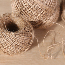 Natural 100M Jute Twine Rope Linen Rustic String Cord DIY Burlap Party Wedding Gift Wrapping Cords Thread