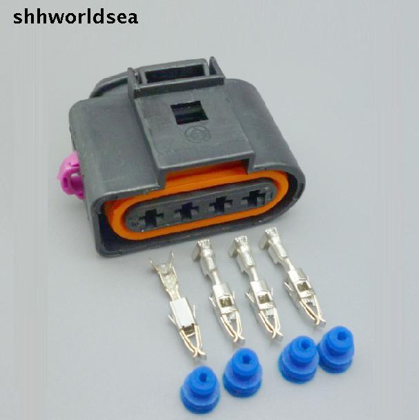 shhworldsea 5sets 4 Way female 4B0973724 Ignition Coil Connector Repair Kit Case For A4 A6 VW Passat 1J0 973 724 1J0973724