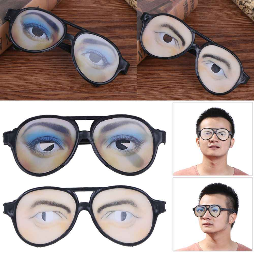 Adult Party Awesome Funny Eyes Eyeglasses Mask Costume Disguise Prank Joke Glasses