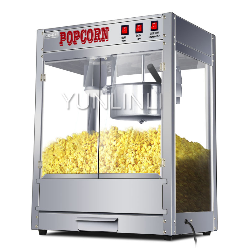 Commercial Popcorn Maker Electric Popcorn Machine Electric Puffed Rice Maker Automatic Corn Popper ZA-08 цены