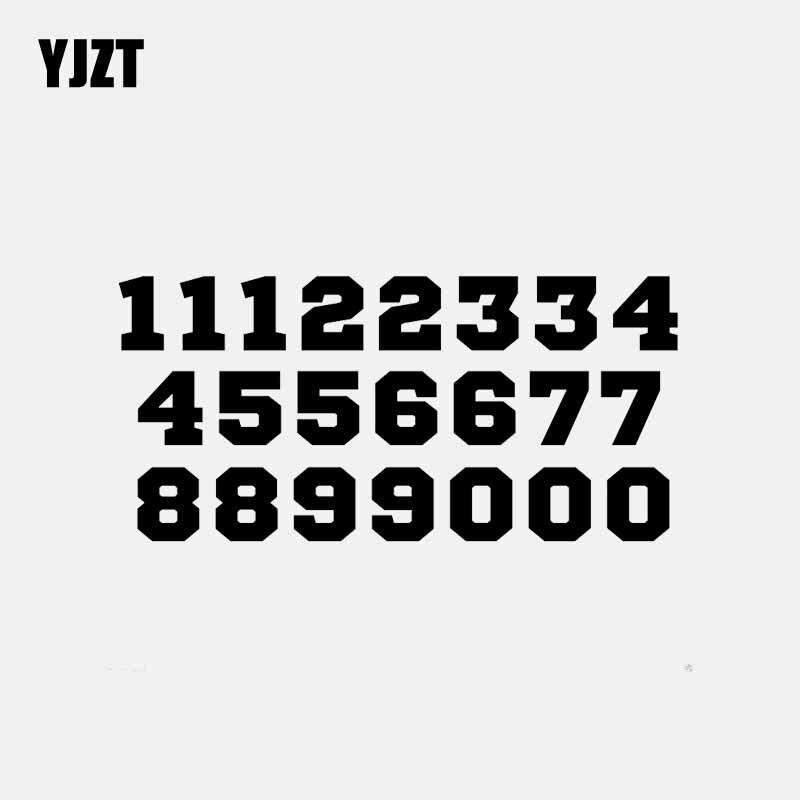 YJZT 16 см * 7,6 см с изображением мультяшного автомобиля, Стикеры виниловые наклейки в виде Фотообоев c переводными картинками Футбол Sport шрифт н...