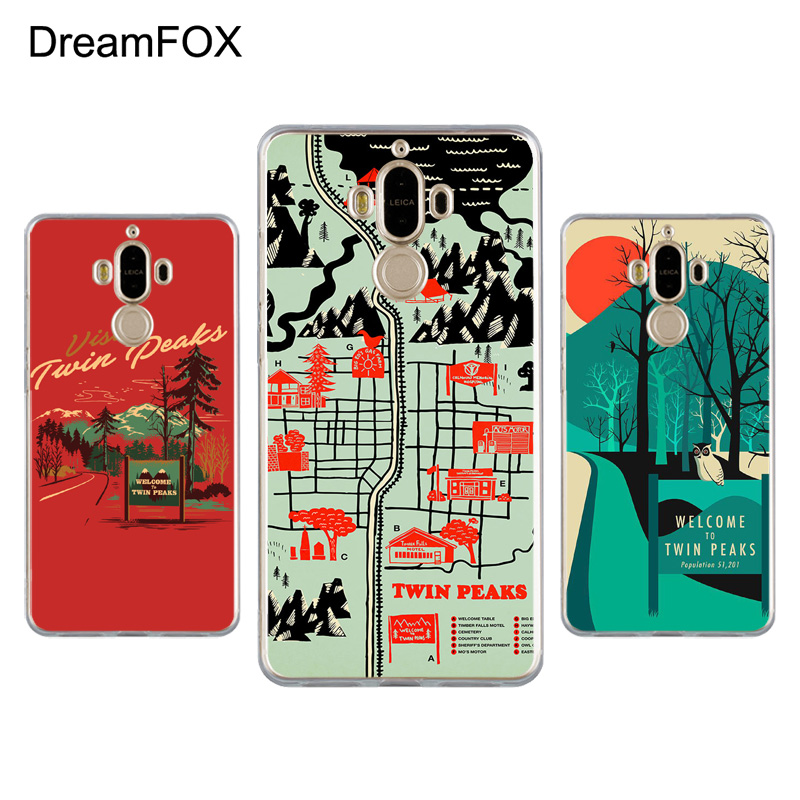 DREAMFOX K249 Twin Peaks Soft TPU Silicone Case Cover For Huawei Mate G 7 8 9 10 Nova 2 Lite Pro Plus