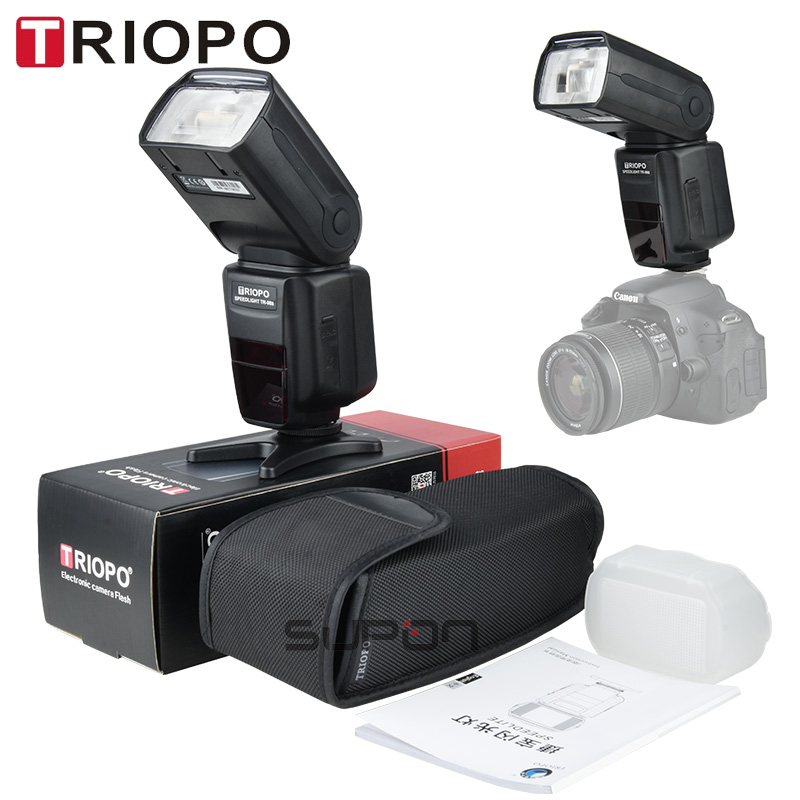TRIOPO TR-988 Professional Speedlite TTL Camera Flash with High Speed Sync for Canon and Nikon Digital SLR Camera TR988+Diffuser triopo tr 988 professional speedlite ttl camera flash with high speed sync for canon and nikon digital slr camera tr988 diffuser