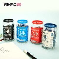 70 PCS Pack Blue Deep Blue Erasable Pen Refills Universal Fountain Pen Ink Sac Cartridges Pen