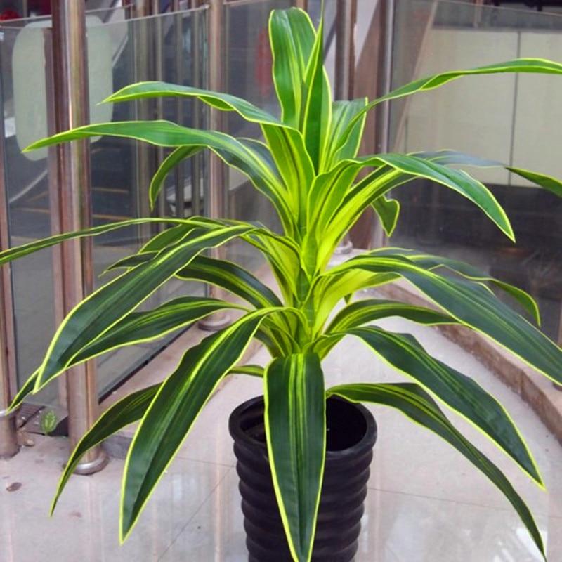 70 cm Latex plantes artificielles brésil oiseau faux arbre bois tige de mariage intérieur extérieur décoration de la maison vert
