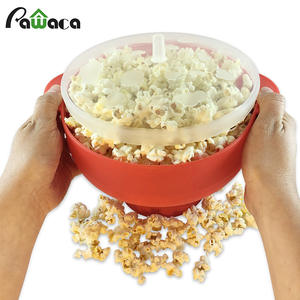 Microwave Maker Collapsible Silicone Bowl with Lid Popcorn