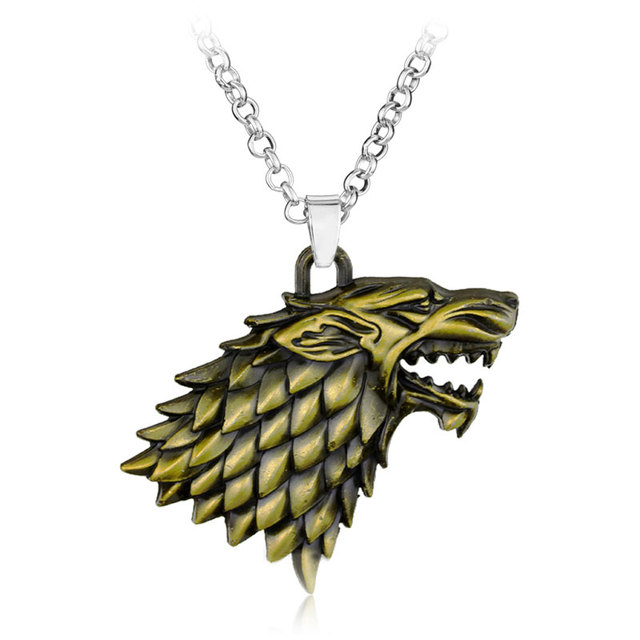 Game of Thrones necklace Stark family lion wolf dragon deer Lannister Targaryen Stark Baratheon Arryn Greyjoy family members 1