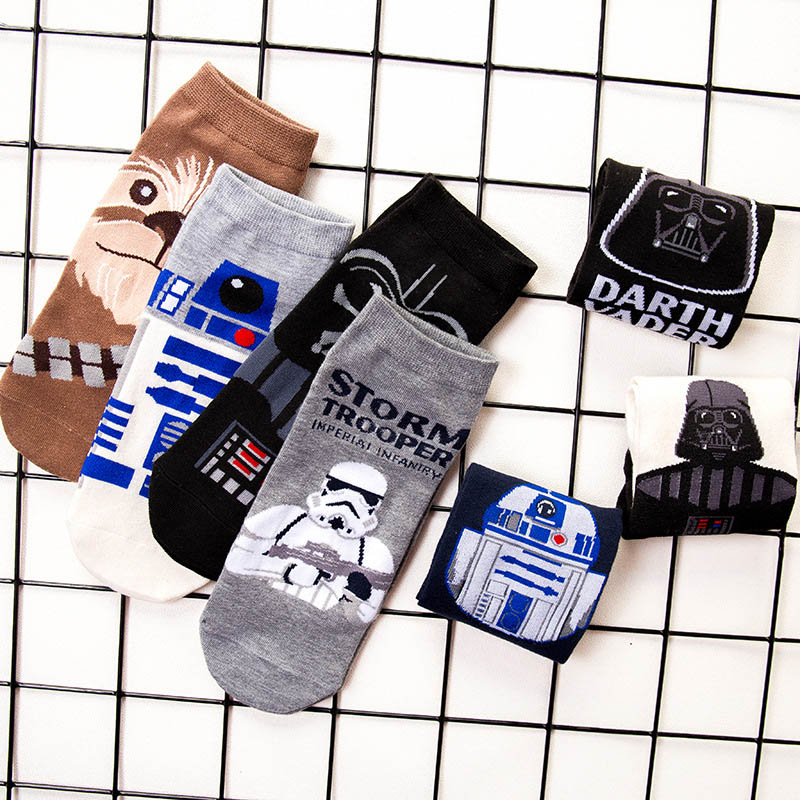 Personality Fashion Printing Cartoon Animal Lazy Striped Socks Mens Winter Quality Breathable Cotton Socks