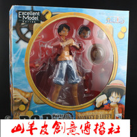 Wholesale One Piece hand to do a full set of pop Ruff Straw Hat Luffy doll ornaments pirate ship models