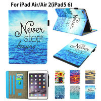 Fashion Painting High Quality Flip PU Leather SFor IPad Air 2 Case For Apple IPad Air