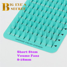 Heat Bonded Volume Lash 8-18mm Premade Fans Eyelash Extension Short Stem Cheaper Best Quality Lashes