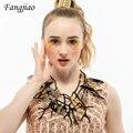 5 colores declaración chunky coral babero forma de colgante de collar de plumas para las mujeres de joyería de moda 2017 nueva llegada collar de la marca
