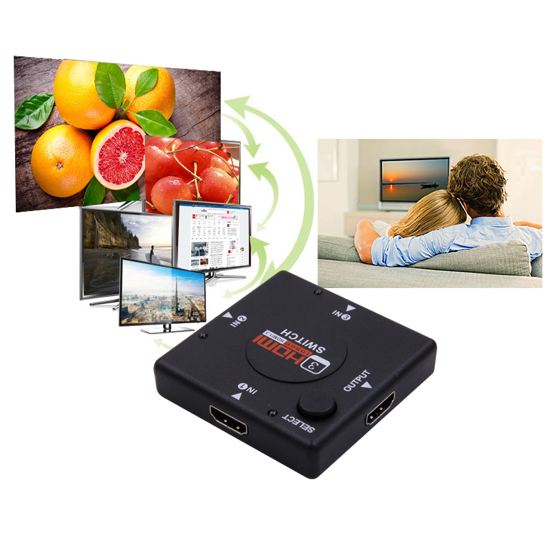 100% Wahr Neueste Heiße Mini 3 Port Hdmi Switch Switcher Hdmi Splitter Hdmi-port Für Hdtv 1080 P Vedio Hdmi Kvm Switcher Den Menschen In Ihrem TäGlichen Leben Mehr Komfort Bringen Kvm-switches