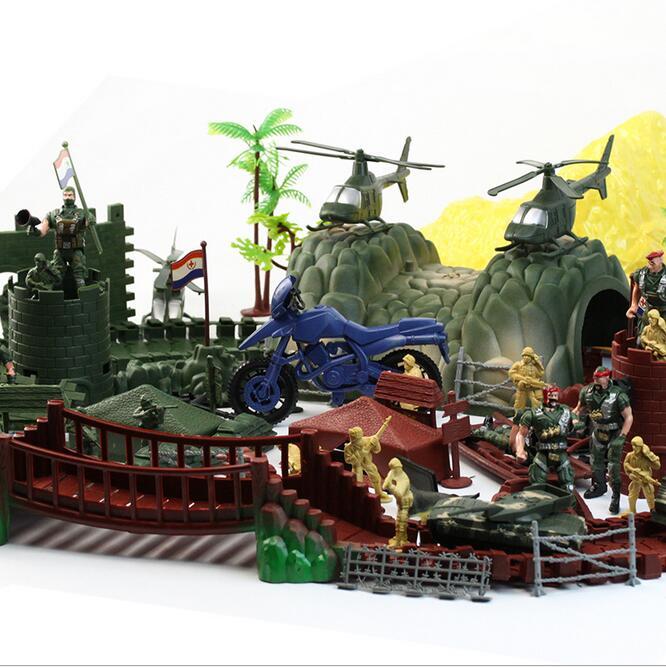 ( 200 PCS / Bag ) World War II Simulation Battlefield Soldier Figures Plastic Soldier Model Figure Toys