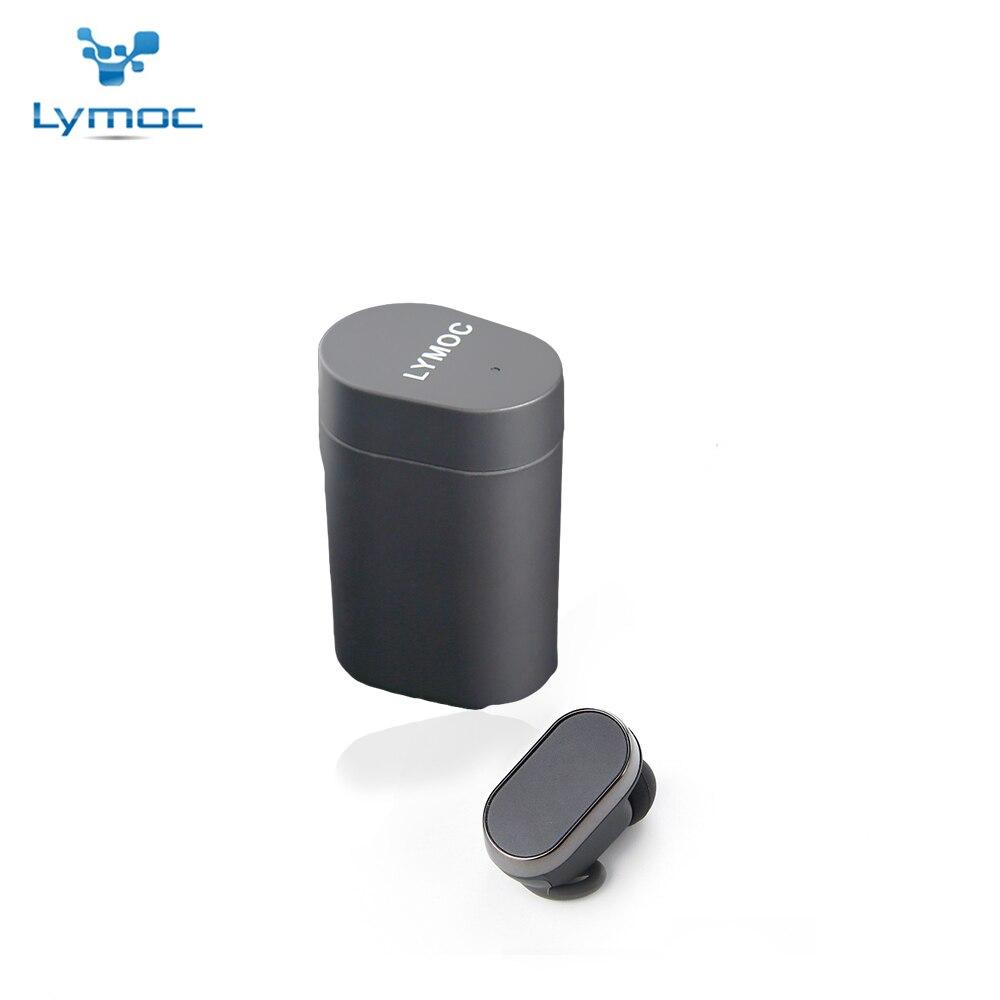 LYMOC Mini Stéréo Écouteurs Sans Fil Écouteurs Antibruit Étanche Sport De Voiture Pilote Musique Jouer HD Mic Mains Libres pour Téléphone