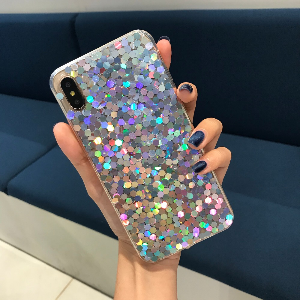 NEW Rhinestone Case For iPhone 7 8 X XR XS Max TPU For iPhone 6 6S
