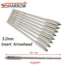 12/24/50pcs Archery 120grain Arrowhead Fit ID3.2mm Arrow Shaft Target Point Tips Broadhead For Shooting Hunting Accessories