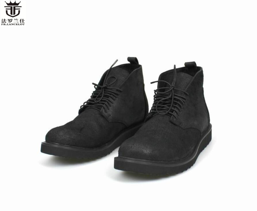 2018 FR.LANCELOT gentleman print Leather Shoes fashion lace up Men Leather Shoes Men comfortable shoes thick heel flats 2017 men shoes fashion genuine leather oxfords shoes men s flats lace up men dress shoes spring autumn hombre wedding sapatos