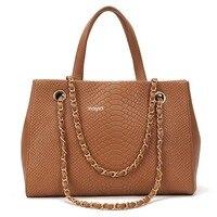 Crocodile Leather Pattern Women Bag PU Leather Wallet Clutch Purse Alligator Stylish Chain Women Messenger Bag