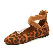 COZULMA Women Leopard Flock Casual Shoes Fashion Sneakers Female Breathable Slip-on Rubber Sole Loafers Plus Size 35-43
