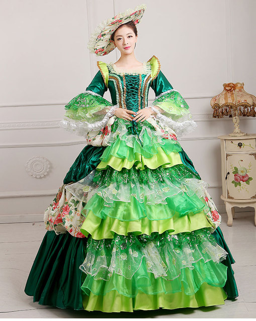 Free PP Renaissance Adults Womens Deluxe Medieval Queen Ball Gown ...