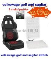 Mise à niveau VW Golf 6, Sagitar commutateur de voiture siège coussin chauffant. chauffage des sièges de carbone, sièges chauffants couverture 12 v universel 5 ans de garantie,