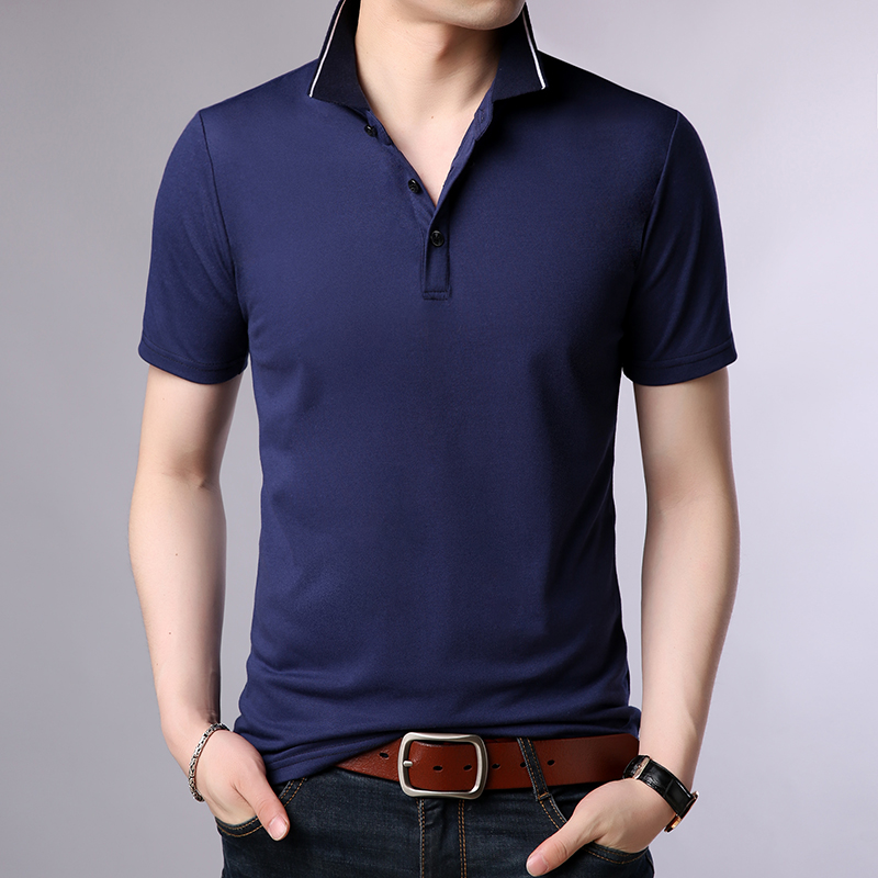 2019 New Fashions Brand   Polo   Shirts Mens Breathable Short Sleeve Slim Fit Solid Color Boyfriend Gift Poloshirt Casual Clothes