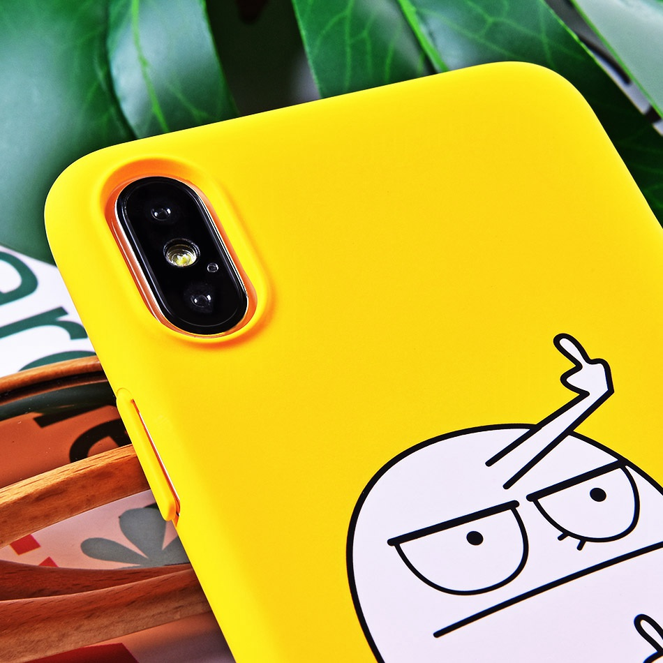 TOMKAS BAD BAD BOY Phone Case for iPhone XS XS Plus Case for iPhone X 2018 9 Yellow Cover Funny Naked Banana Cute Cartoon Coque (9)